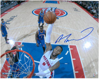 Andre Drummond Autographed Detroit Pistons 8x10 Photo #2 - 2013/14 Home Slam Dunk