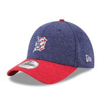 Men's Detroit Tigers New Era Heathered Navy/Heathered Red 2017 Stars & Stripes 39THIRTY Flex Hat