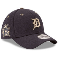 Men's Detroit Tigers New Era Heathered Navy 2017 MLB All-Star Game Side Patch 39THIRTY Flex Hat