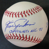 "Fergie Jenkins Autographed Baseball - Official Major League Ball Inscribed "" CY 71 & 3192 K's"""