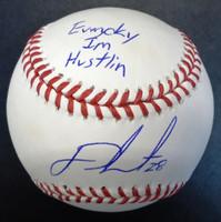 J.D. Martinez Autographed Baseball - Everyday I'm Hustlin'