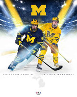 Dylan Larkin & Zach Werenski Autographed Michigan 16x20 Photo - Limited to 50