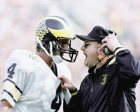 Jim Harbaugh Autographed 8x10 Photo #1 - with Bo (Pre-Order)