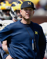 Jim Harbaugh Autographed 8x10 Photo #2 - On the Sideline (Pre-Order)