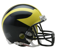 Jim Harbaugh Autographed Michigan Wolverines Mini Helmet (Pre-Order)
