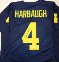 Jim Harbaugh Autographed Michigan Wolverines Jersey (Pre-Order)