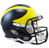 Jim Harbaugh Autographed Michigan Wolverines Speed Authentic Helmet (2016-17 Painted) (Pre-Order)
