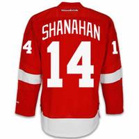 Brendan Shanahan Autographed Detroit Red Wings Red Jersey w/ HOF 13 (Pre-Order)