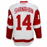 Brendan Shanahan Autographed Detroit Red Wings White Jersey w/ HOF 13 (Pre-Order)