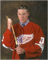 Jimmy Howard Autographed Detroit Red Wings 8x10 Photo #8 - Draft Photo