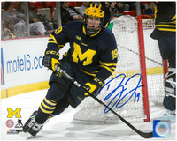 Dylan Larkin Autographed Detroit Red Wings 8x10 Photo #4 - University of Michigan
