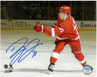 Dylan Larkin Autographed Detroit Red Wings 8x10 Photo #5 - Hard Shot