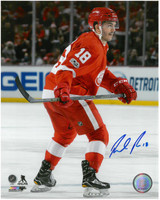 Robbie Russo Autographed Detroit Red Wings 8x10 Photo #1 - Ready for Action
