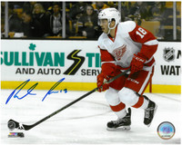 Robbie Russo Autographed Detroit Red Wings 8x10 Photo #2 - Skating Up The Ice