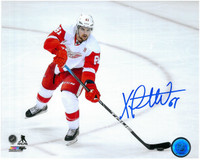 Xavier Ouellet Autographed Detroit Red Wings 8x10 Photo #1 - Passing The Puck