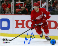Nick Jensen Autographed Detroit Red Wings 8x10 Photo #1 - Home Action