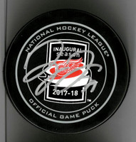 Dylan Larkin Autographed Little Caesars Arena Inaugural Season Official Game Puck