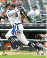 Dixon Machado Autographed Detroit Tigers 8x10 Photo #1 - Batting