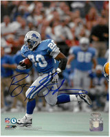 Barry Sanders Autographed Detroit Lions 8x10 Photo #4 - Gaining Yards