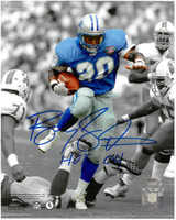 "Barry Sanders Autographed Detroit Lions 8x10 Photo #5 - Spotlight Inscribed with ""HOF 04"""