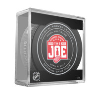 Riley Sheahan Autographed Farewell to the Joe Final Game 4/9/17 Official Game Puck (Pre-Order)