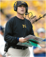 Jim Harbaugh Autographed University of Michigan 8x10 Photo #3 - Coaching