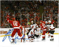 Riley Sheahan Autographed Detroit Red Wings 8x10 Photo #4 - Last Goal At The Joe