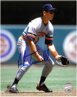 Alan Trammell Autographed Detroit Tigers 8x10 Photo #3 - Fielding