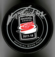 Martin Frk Autographed Little Caesars Arena Inaugural Season Official Game Puck