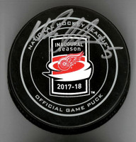 Nicklas Lidstrom Autographed Little Caesars Arena Inaugural Season Official Game Puck