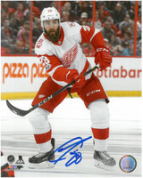 Luke Witkowski Autographed Detroit Red Wings 8x10 Photo #1