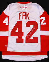 Martin Frk Autographed Detroit Red Wings Road Jersey