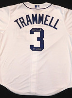 """Alan Trammell Autographed Detroit Tigers Jersey Inscribed """"84 WS MVP"""""""