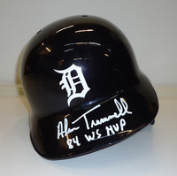"Alan Trammell Autographed Detroit Tigers Authentic Batting Helmet Inscribed ""84 WS MVP"""