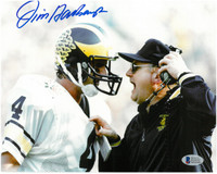 Jim Harbaugh Autographed University of Michigan 16x20 Photo #1 - Jim & Bo