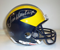 Jim Harbaugh Autographed University of Michigan Mini Helmet