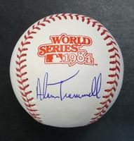 Alan Trammell Autographed Baseball - 1984 World Series Ball