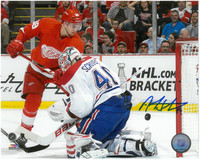 Anthony Mantha Autographed Detroit Red Wings 8x10 Photo #6 - Action Home Horizontal