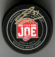 Frans Nielsen Autographed Farewell to the Joe Official Game Puck