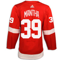 Detroit Red Wings Adidas Authentic Red Jersey - Mantha #39