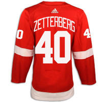 Detroit Red Wings Adidas Authentic Red Jersey - Zetterberg #40