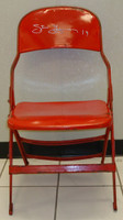 Steve Yzerman Autographed Joe Louis Arena Original Metal Folding Chair (Pre-Order)