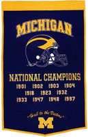 University of Michigan Wool Dynasty Banner