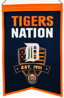 Detroit Tigers Nation Wool Banner