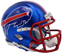Buffalo Bills Blaze Alternate Speed Riddell Mini Helmet