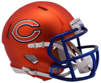 Chicago Bears Blaze Alternate Speed Riddell Mini Helmet
