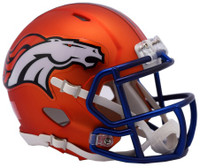 Denver Broncos Blaze Alternate Speed Riddell Mini Helmet