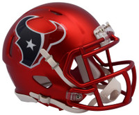 Houston Texans Blaze Alternate Speed Riddell Mini Helmet
