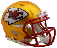 Kansas City Chiefs Blaze Alternate Speed Riddell Mini Helmet