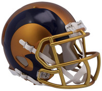 Los Angeles Rams Blaze Alternate Speed Riddell Mini Helmet